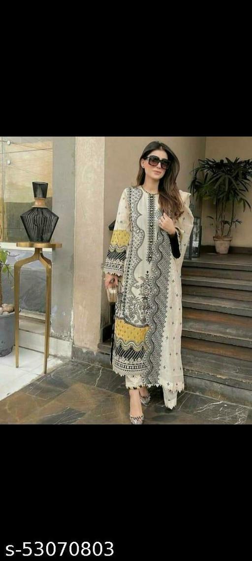 Alisha Fashionable Semi-Stitched Suits