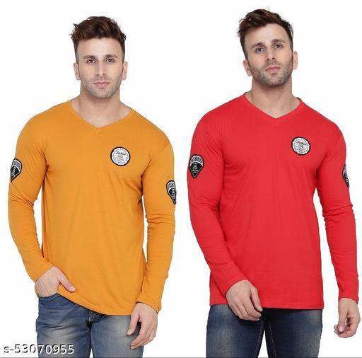 Geum V-neck Long sleeves Multicolor T-Shirt