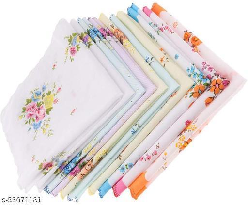 cotton woman handkerchief pack of 12 multicolor