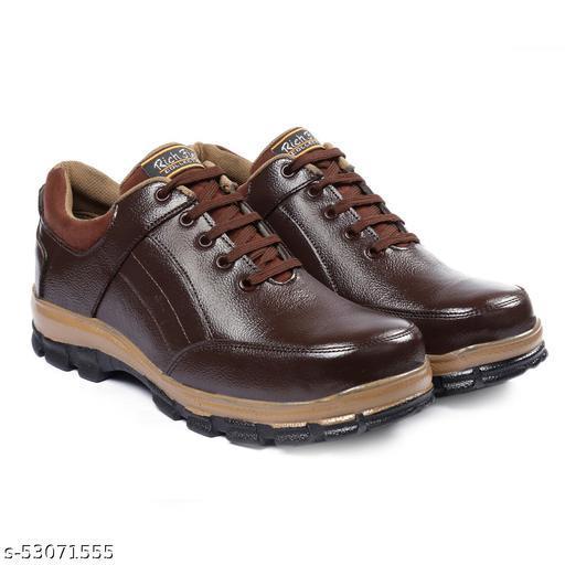 Rich Field Sporty Brown Casual Shoe With Steel Toe