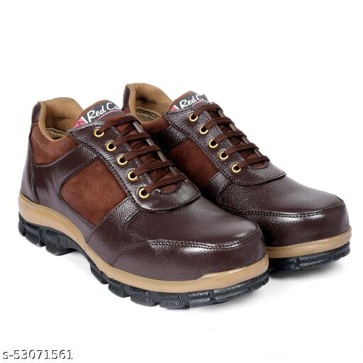 RED CAN Sporty Brown Casual Shoe With Steel Toe