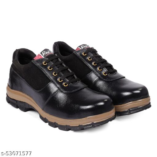 RED CAN Sporty Black Casual Shoe With Steel Toe