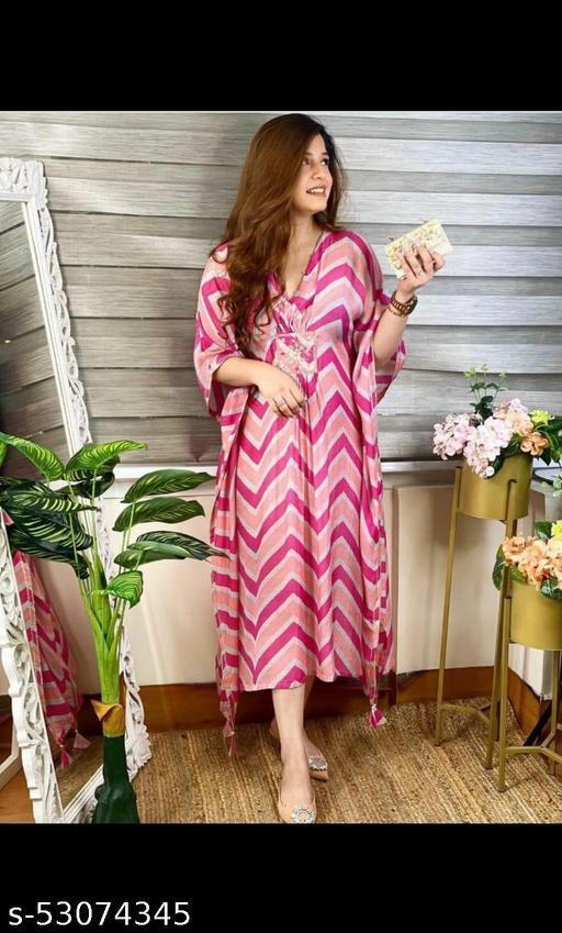 Trendy Pink Kaftan