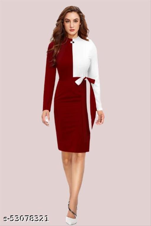 Women's Lycra Knitted Bodycon Dress