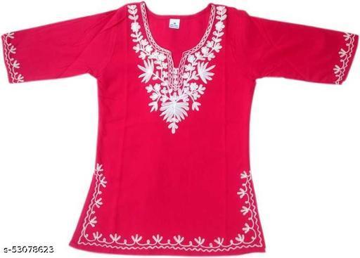 Girls Casual Pure Cotton Tunic Top