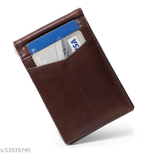 RFID Blocking  Buff-Hide Brown Slim and  Smooth Unisex Pocket Money Clip Card Wallet.