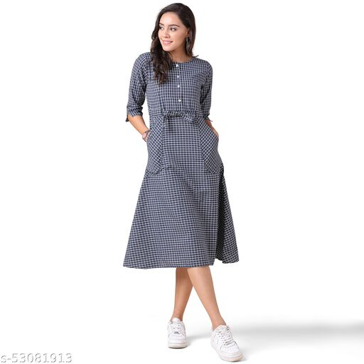Oooh Lady Fashion Womens Cotton Designer Western Dress