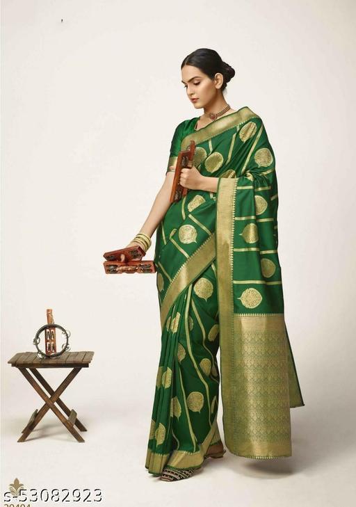 Women Pure Silk Handloom Saree With Pure Zari And Pure Silk With Gold Zari