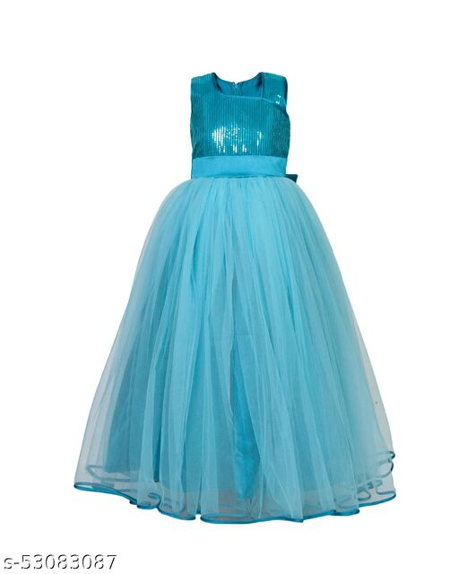 Naz Mannat Girl's & Kid's Casual Dress Gown(NF_035)