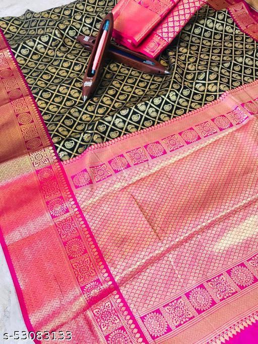 Women's  Pure Kanchipuram  Traditional Silk Saree
