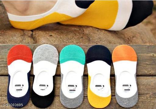 Men's Cotton Mix Design Loafer Socks(Pack Of 6)