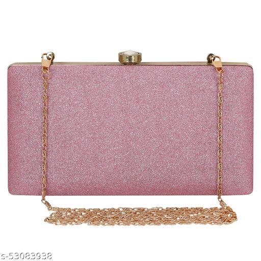 Trendy Fashionable Women's Pink Resin Clutch