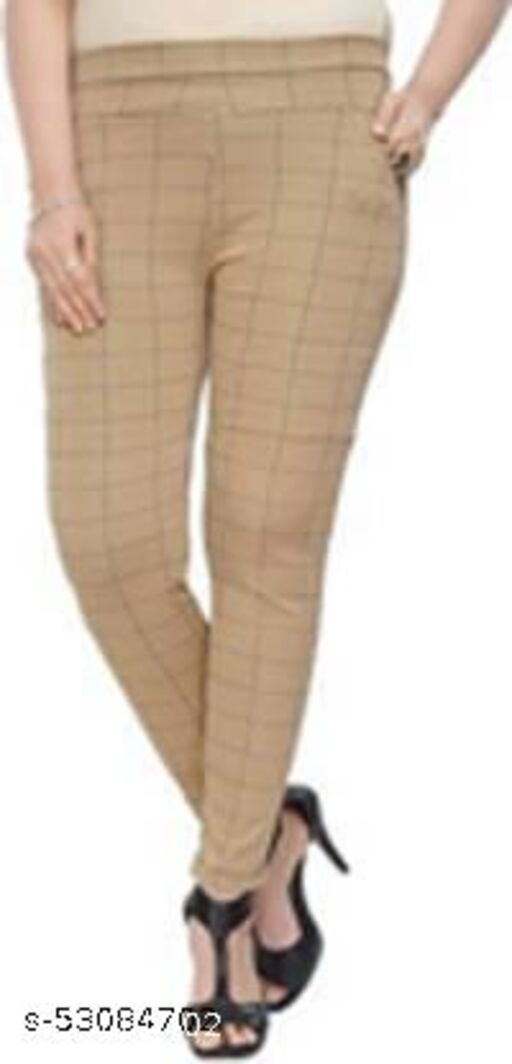 BROWN CHECK JEGGING