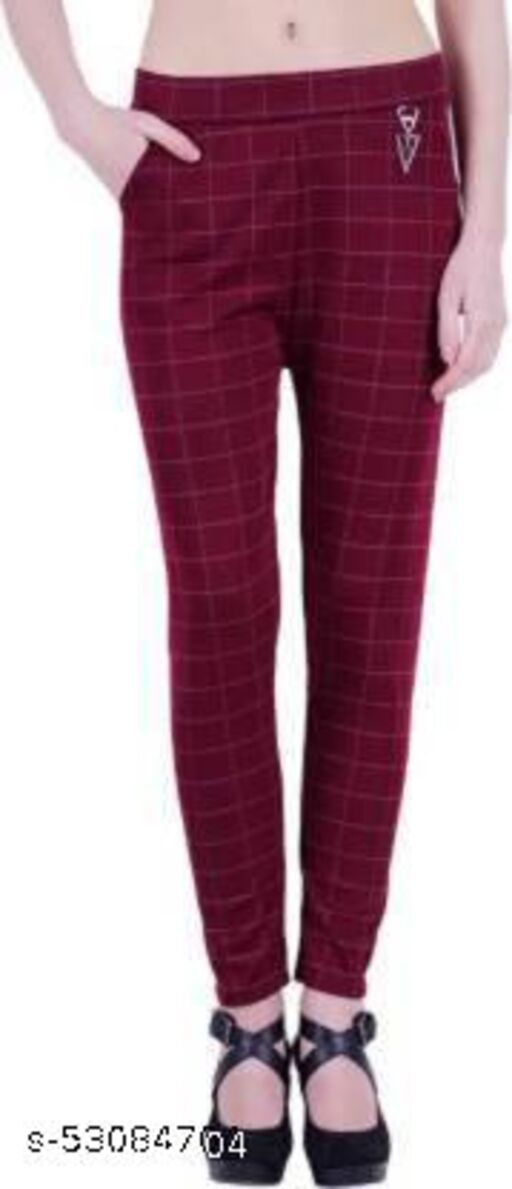 MAROON CHECK  JEGGING