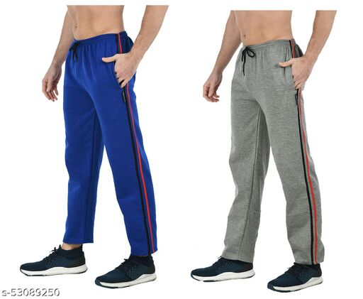 IndiStar Men Fleece Warm Track Pants/Lower (Pack of 2)