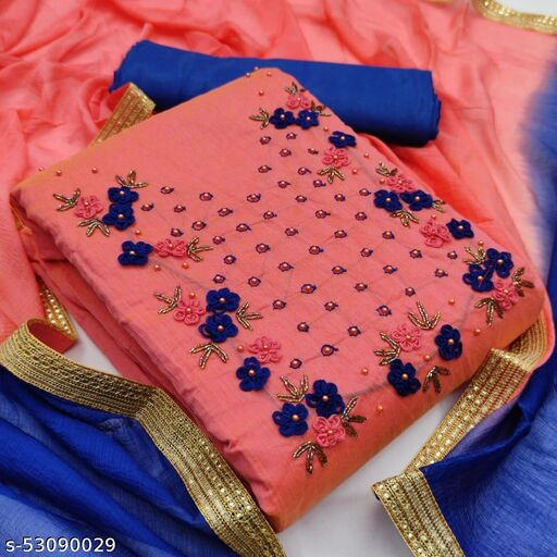 WOMEN MODAL SILK DRESS MATERIAL SUIT