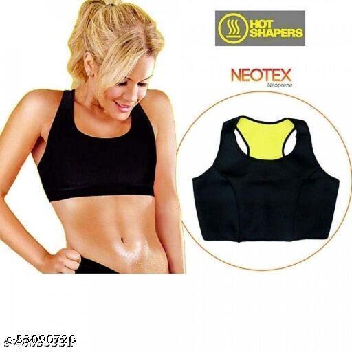 Hot Shaper Neoprene Bra Body Shaper Women Seamless Slimming Thermo Push Up Vest Girls Waist Trainer Bra ( Sport Bra)-Pack of 2