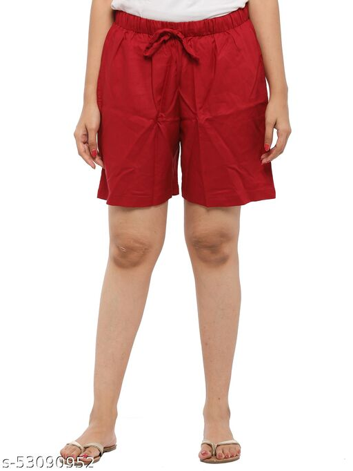 Easy 2 Wear ® Womens Cotton Rayon Fabric Shorts (Size S to 4XL) Comfort FIT and Plus Size