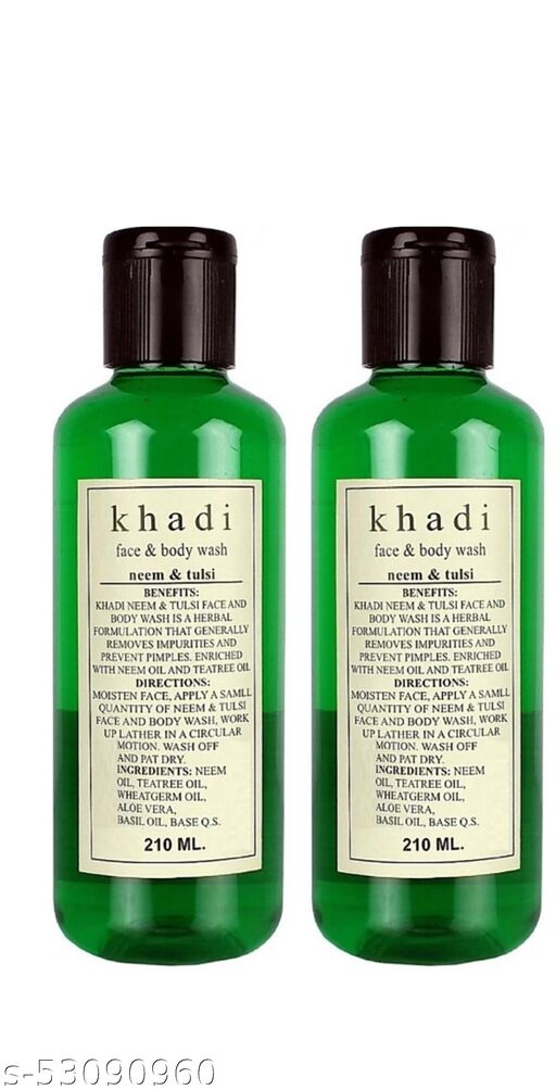 Khadi herbal Neem Tulsi Face & Bodywash 420Ml