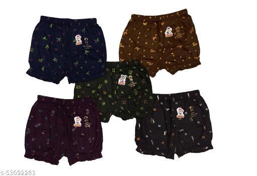 Womens 100% Cotton Ladies Printed Bloomer Panty Brief Boy Shorts Innerwear 5 Piece Combo