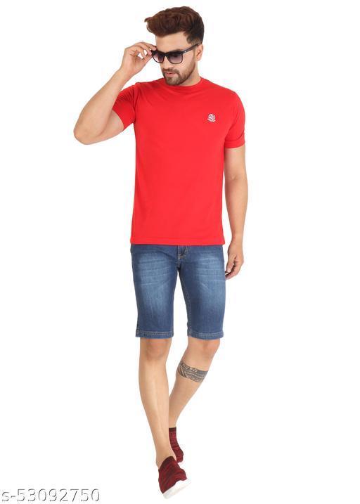 Men's Light Blue Denim Shorts