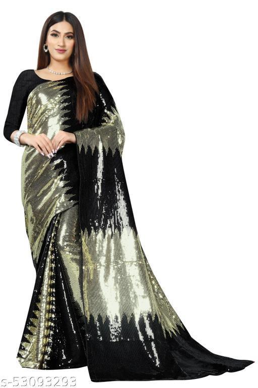Stylish Wedding Sequin Work Designer Saree