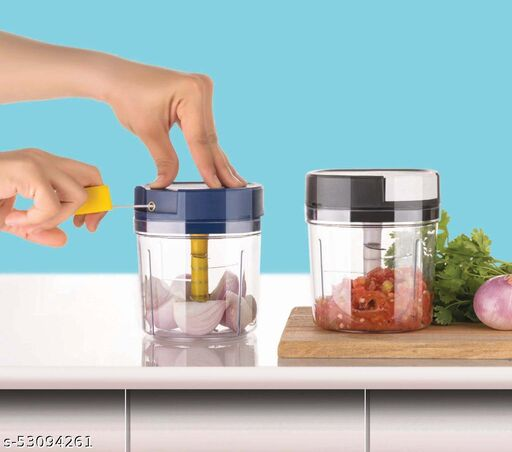 Plastic 1000 ml Large Vegetable Chopper with 6 Blades