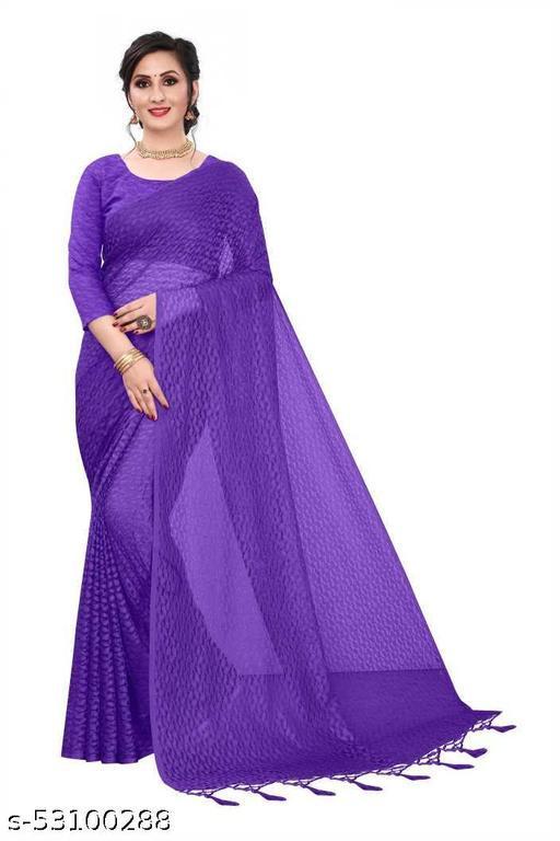 Self Design Bollywood Net Saree