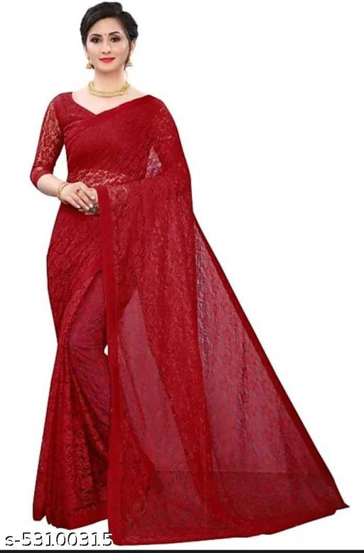 Printed Fashion Net, Jacquard Saree