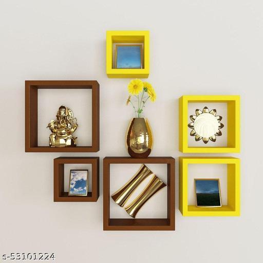 Wooden Floating Wall Shelf Storage