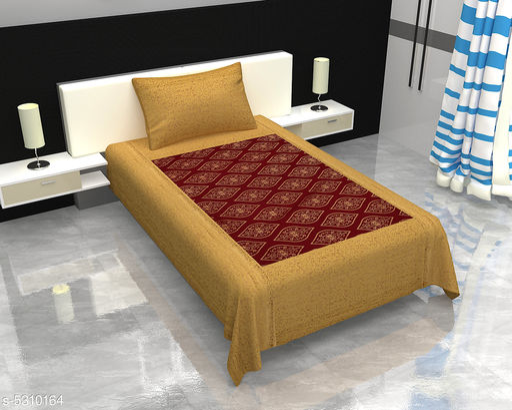Trendy Cotton 90 X 60 Single Bedsheet