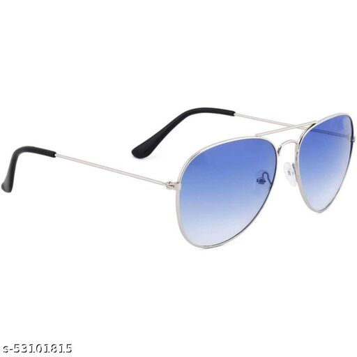 Aviator Metal Body Blue Sunglass For Men & Women,Pack of 1