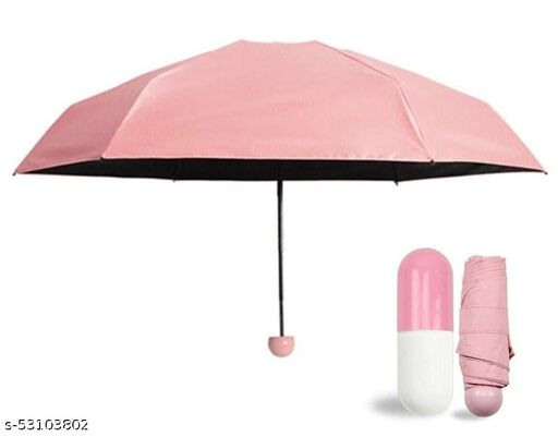KRISHNA ENTERPRISE Pocket Umbrella Ultra Light Mini Umbrella 5 Folding Compact Umbrella with Lovely Capsule Case Pocket Umbrella Stylish/Compact size/Easy to carry Umbrella