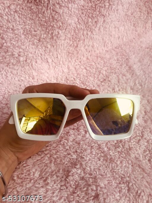 Yu Fashions Jas Manak Sahil Khan Badshah White Frame High Quality Sunglasses