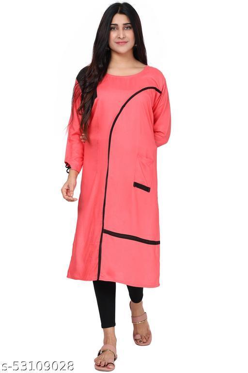 Indian Women's Rayon Straight Kurti