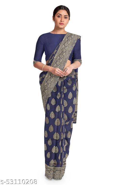 stylish & fashionable women's banarasi jacquard saree