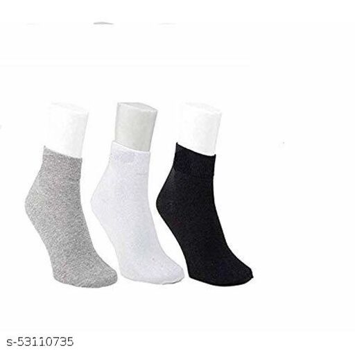 Ankle Sports Cotton Socks For Men Assorted Pack of 3
