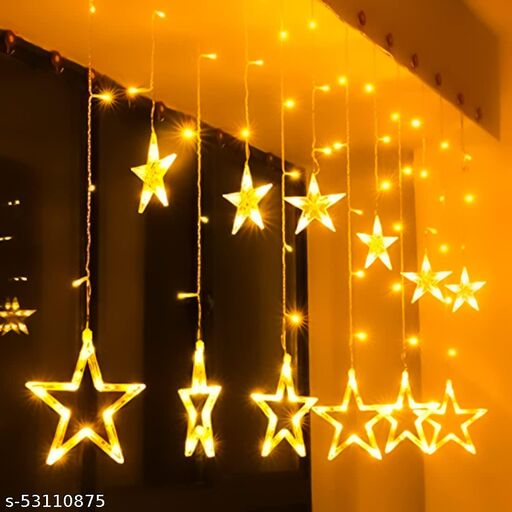 way2tech:-Star String Lights for Indoor Outdoor Decoration Diwali Light for Party Birthday Diwali Christmas Navratri Valentine Gift Home Decoration Light 12 Star