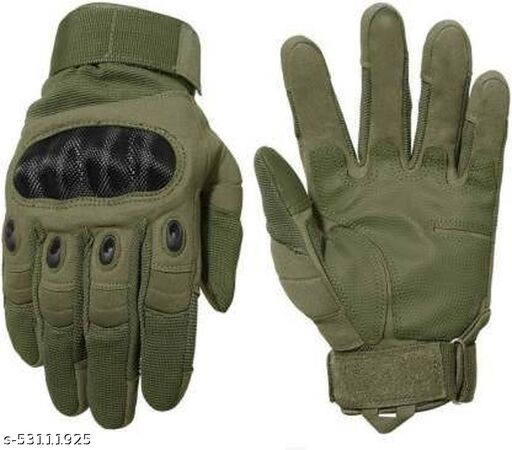 Akia creation  Full Finger Tactical Gloves Military Army Shooting Climbing Cycling Gym & Riding Riding Gloves  (Green XL SIZE )