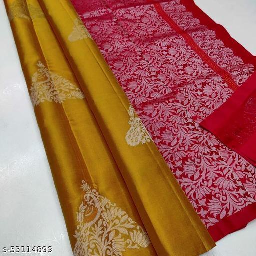 Ritika's Pure Soft Litchi Silk Zari Weaving Saree With Blouse