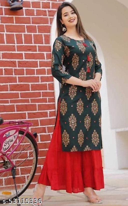 Embellished Work Kurta Skirt Set