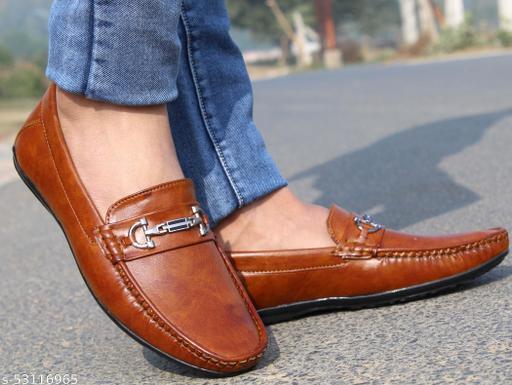 Buckle Blaster Tan Loafer Shoe For Men's