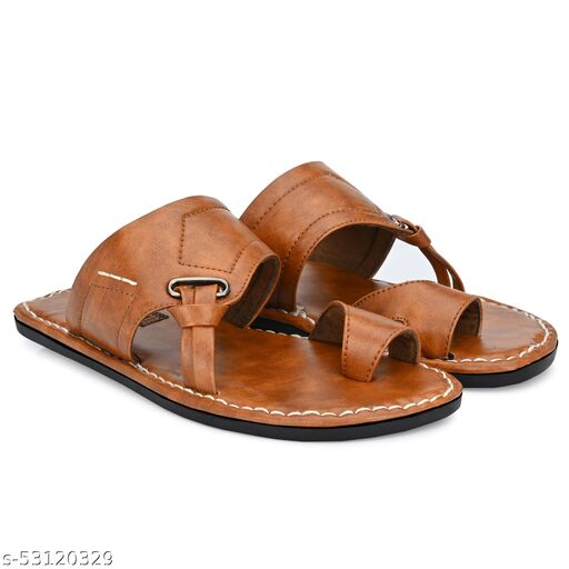 KIATU Synthetic Leather Casual Flip Flops Floaters Thong Outdoor Slipper Sandals for Men's and Boy's