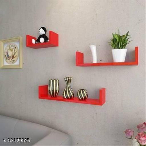 Wall shelf U rack shelves MDF Wall hanging ,floating ,mounted decorative Home
