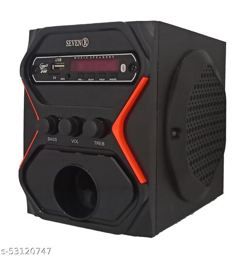 """SEVEN R-NANO SET 4""""SPEAKER HIGH QUALITY SOUND WITH BLUETOOTH ,USB,FM,AUX,SUPPORTING"""