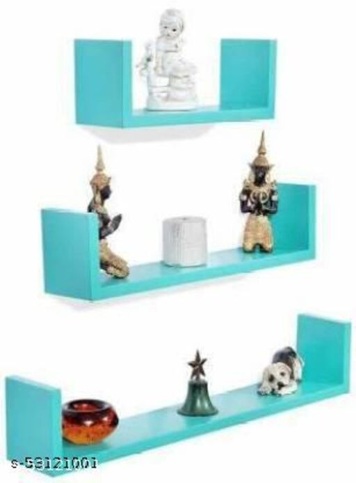 Wall shelf U rack shelves MDF Wall hanging ,floating mounted ,decorative Home