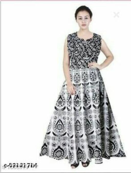 White Mirchi Print Gown