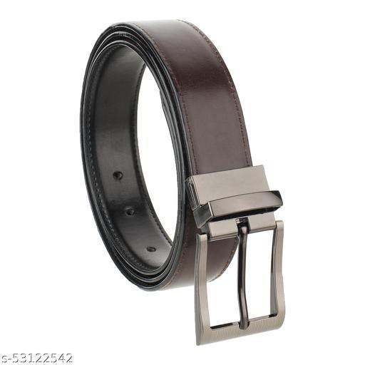 Nozick Men Party, Formal, Casual, Evening Black Genuine Leather Reversible Belt ( WIDTH-1.3 Inch )