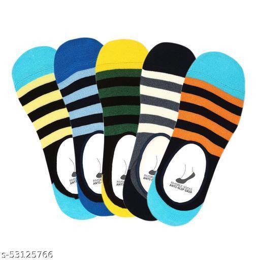 SmartMall Men's Anti Slip No Show Socks/Loafer Socks - Pack of 5