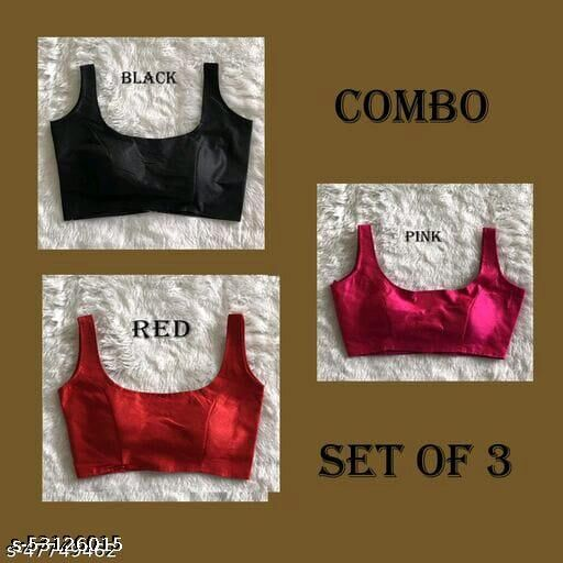 TEJAL WOMEN READYMADE BLOUSE RED-BLACK SANDO COMBO WITH SANDO